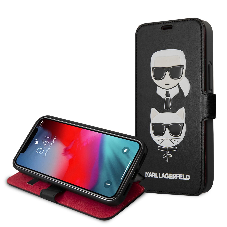 KLFLBKSP12SFKICKC Karl Lagerfeld Heads Book Pouzdro pro iPhone 12 mini 5.4 Black 3700740489789