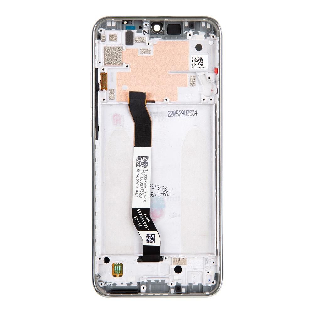LCD Display + Dotyková Deska + Přední Kryt pro Xiaomi Redmi Note 8T White (Service Pack)