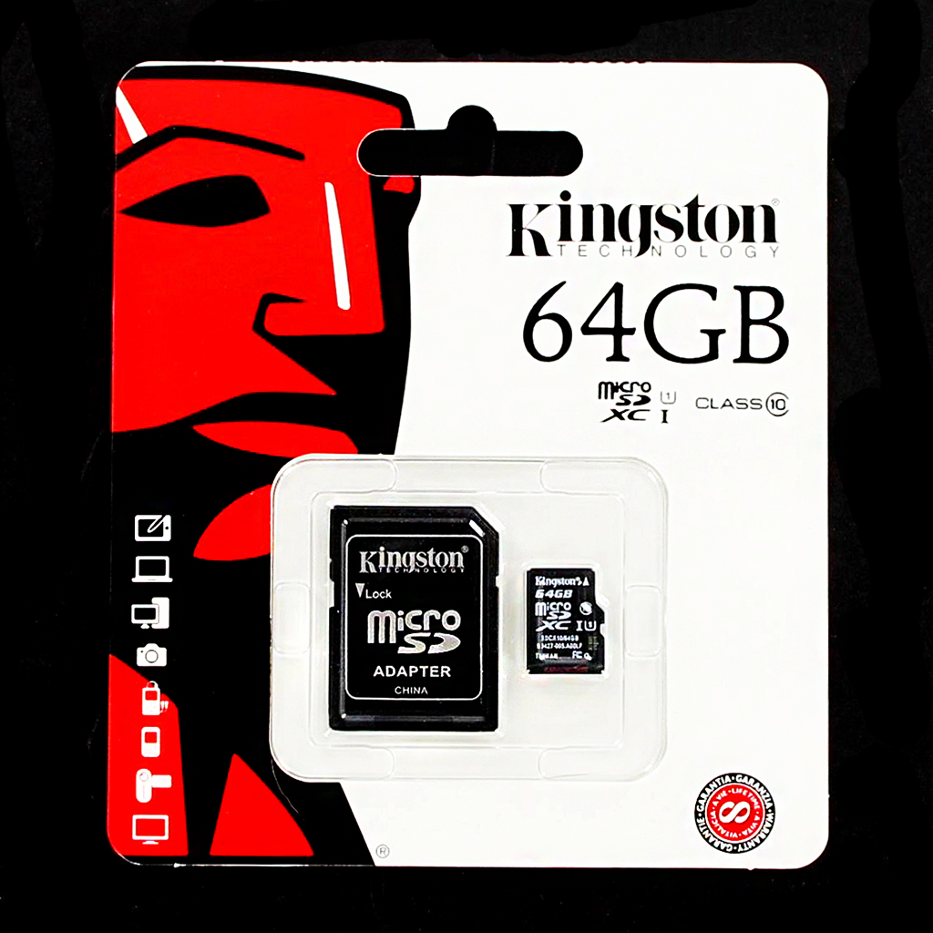 microSDXC 64GB Kingston Class 10 w/a (EU Blister)