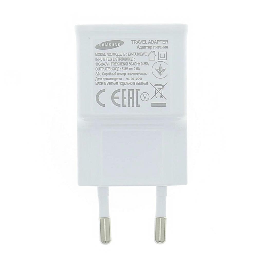 EP-TA10EWE Samsung USB Cestovní nabíječka White (Bulk)