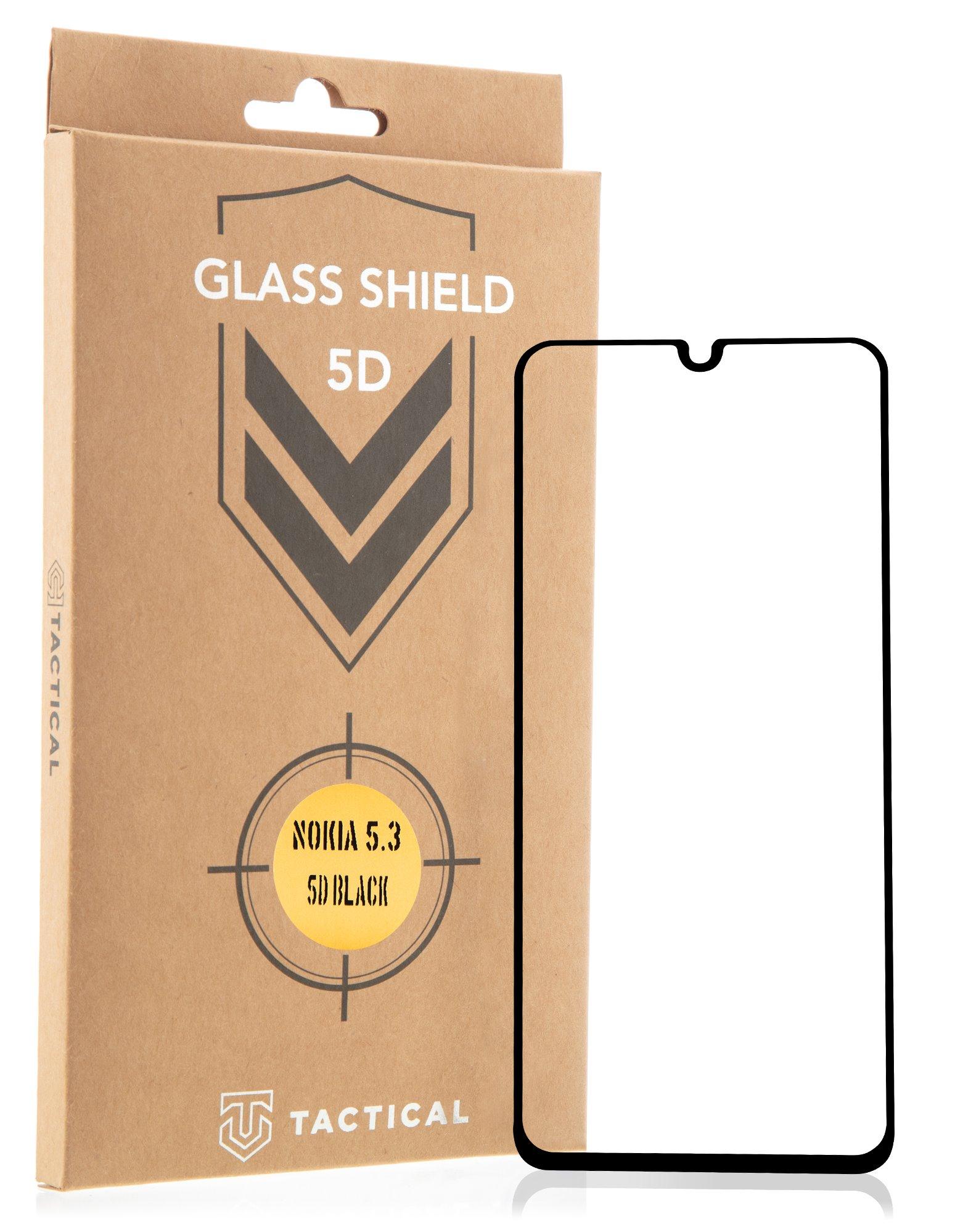 Tactical Glass Shield 5D sklo pro Nokia 5.3 Black