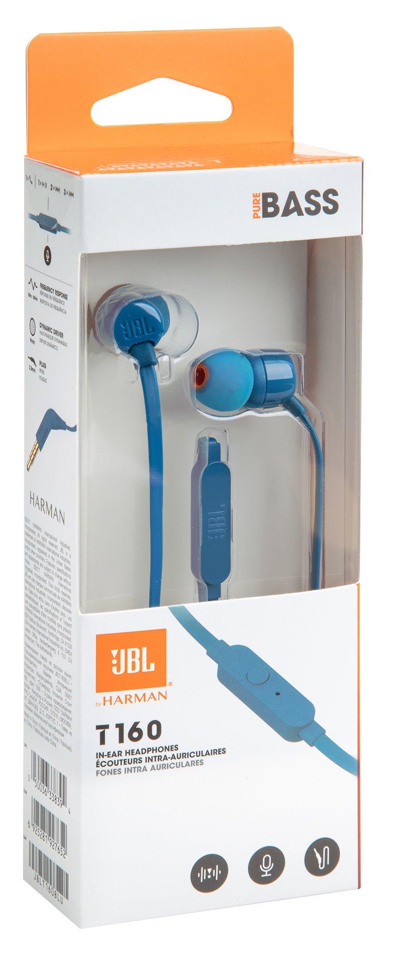 JBL T160 In-Ear Headset 3,5mm Blue