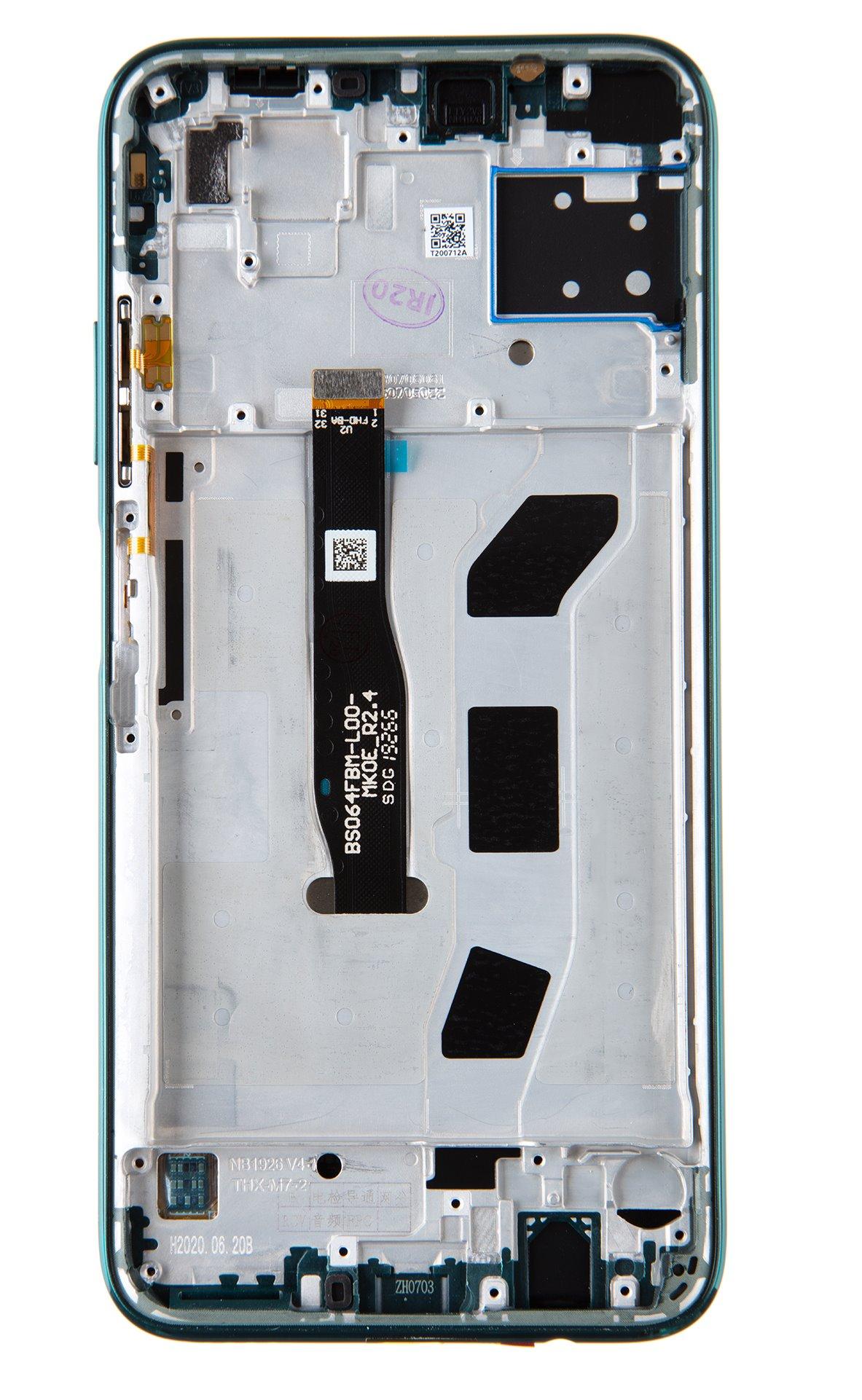 Huawei P40 Lite LCD Display + Dotyková Deska + Přední Kryt Crush Green