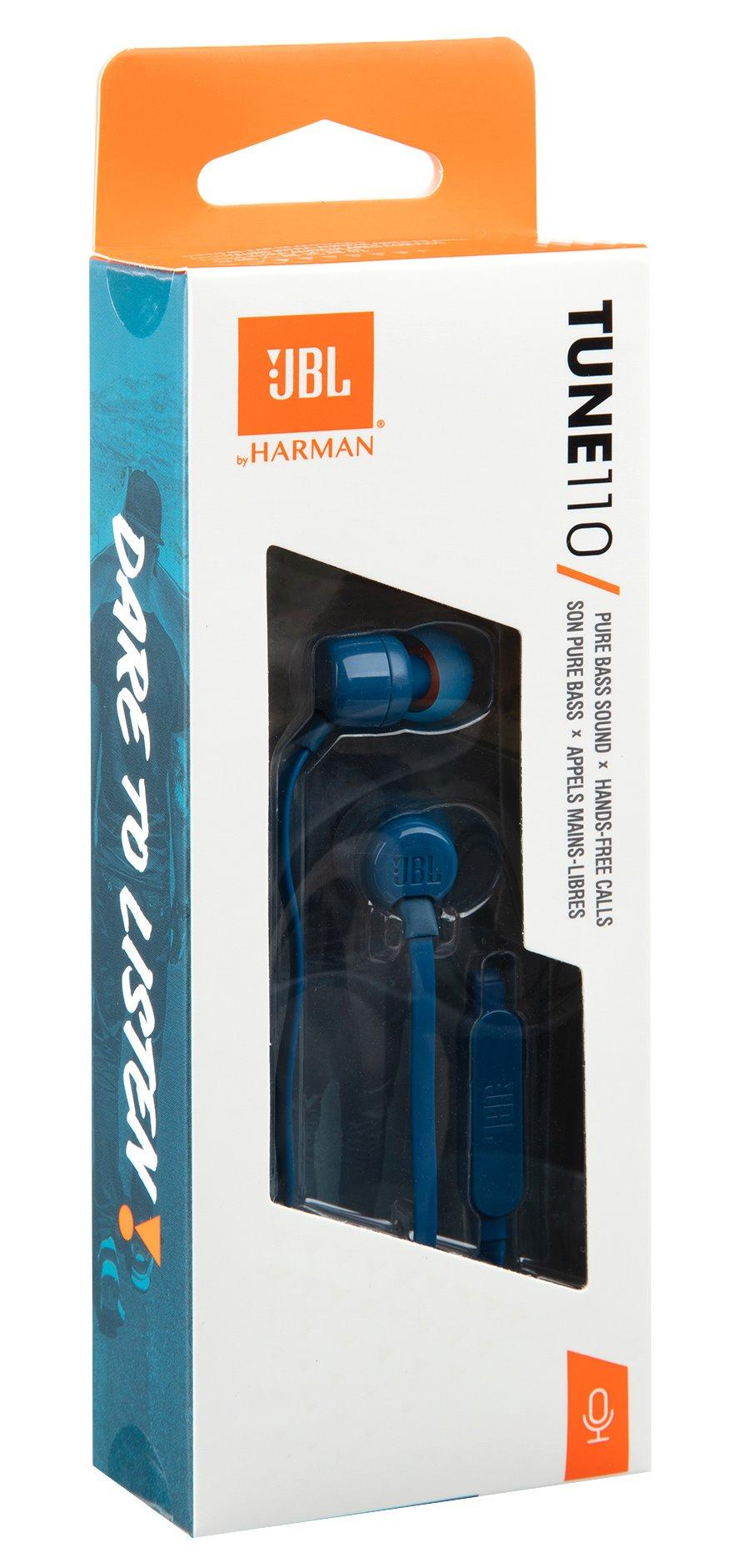 JBL T110 In-Ear Headset 3,5mm Blue