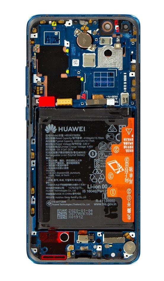 Huawei P40 Pro LCD Display + Dotyková Deska + Přední Kryt Deep Sea Blue (Service Pack)
