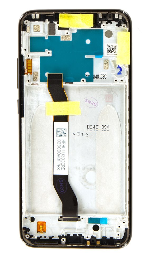 LCD Display + Dotyková Deska + Přední Kryt pro Xiaomi Redmi Note 8 Black (Service Pack)