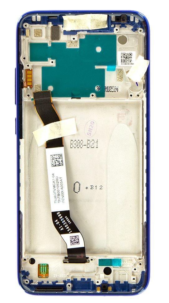 LCD Display + Dotyková Deska + Přední Kryt pro Xiaomi Redmi Note 8 Blue (Service Pack)