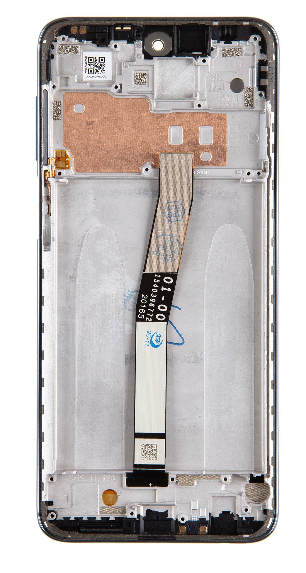 LCD Display + Dotyková Deska + Přední Kryt pro Xiaomi Redmi Note 9 Pro/9S Interstellar Gray
