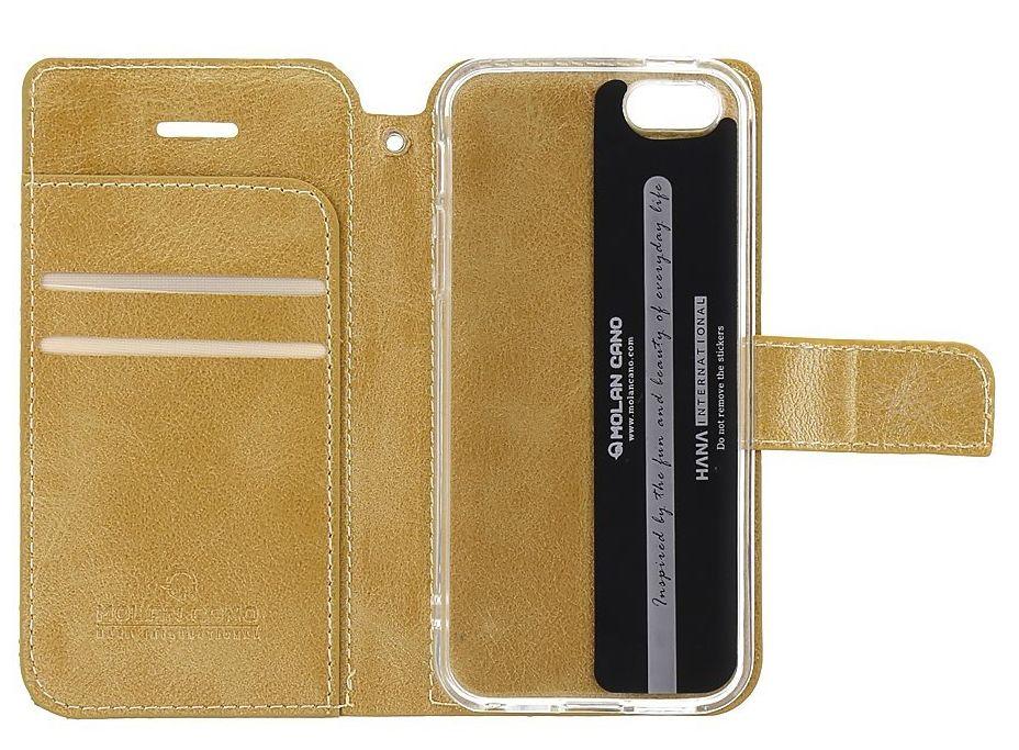 Molan Cano Issue Book Pouzdro pro Motorola E7i Power Gold