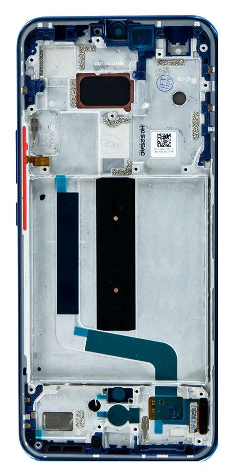 LCD Display + Dotyková Deska + Přední Kryt pro Xiaomi Mi 10 Lite Aurora Blue