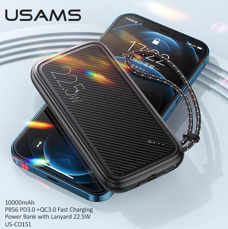 USAMS CD151 QC3.0 Fast Charge Powerbanka 10000mah Black