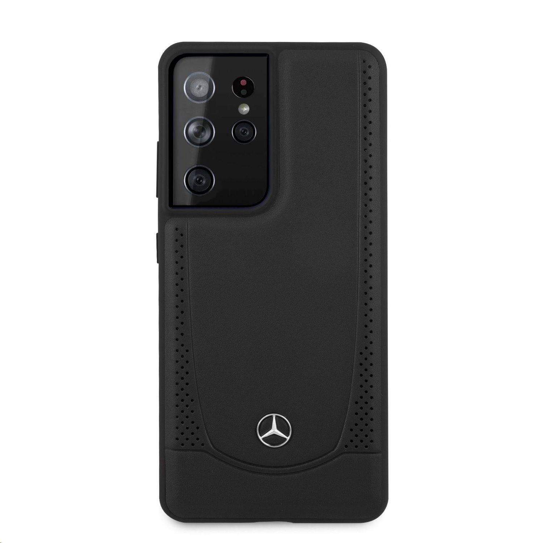 MEHCS21LARMBK Mercedes Leather Urban Kryt pro Samsung Galaxy S21 Ultra Black 3700740497708