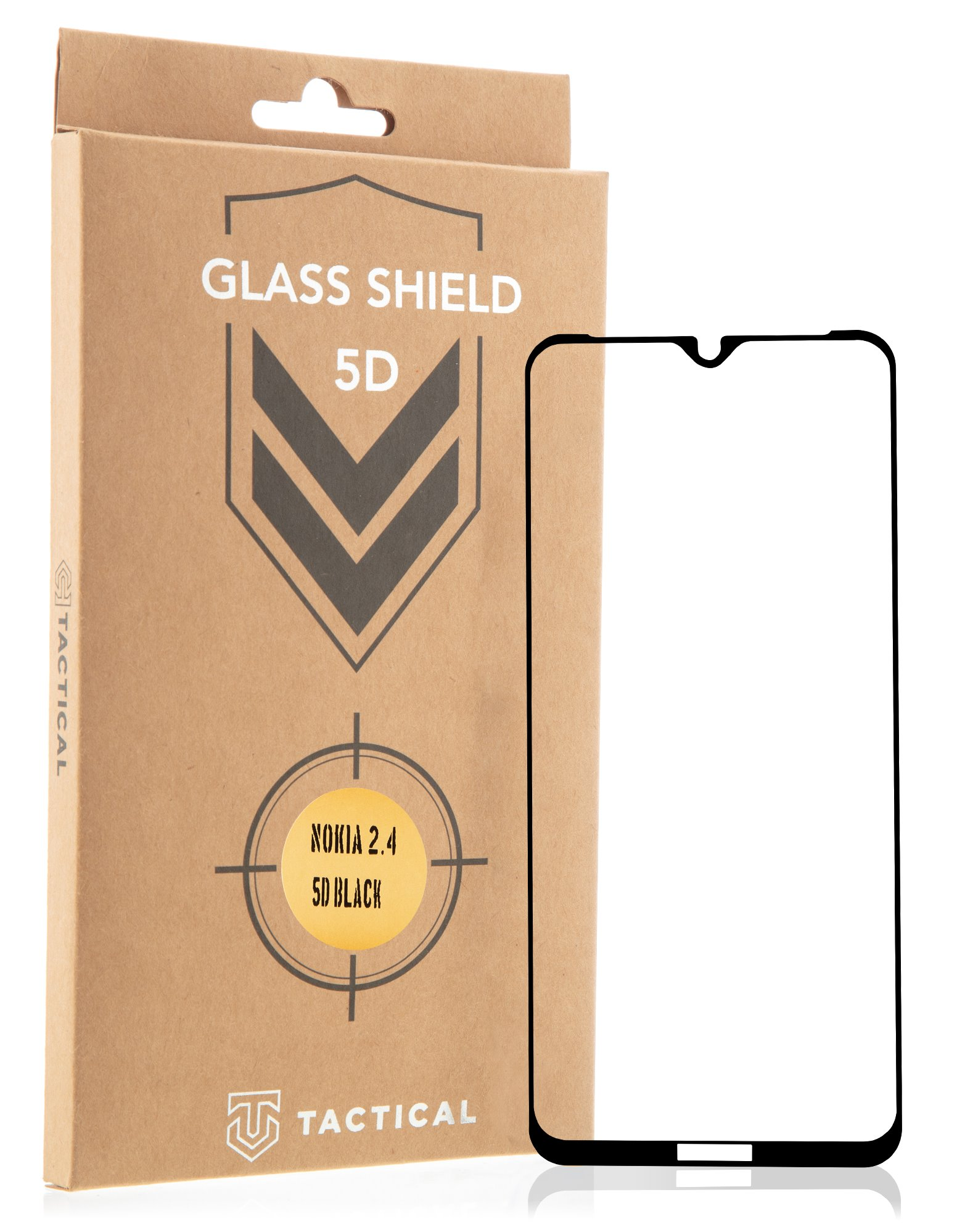 Tactical Glass Shield 5D sklo pro Nokia 2.4 Black
