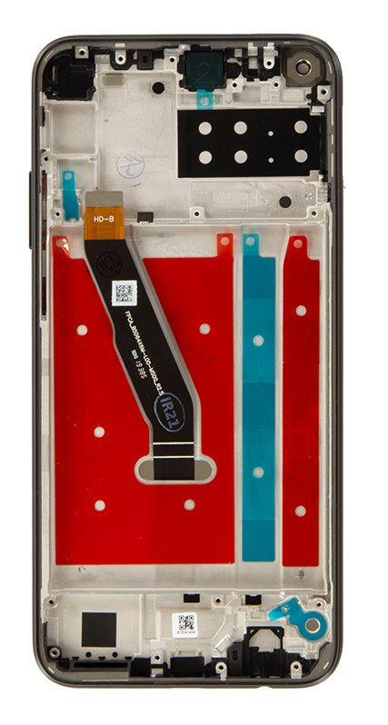 Huawei P40 Lite E LCD Display + Dotyková Deska + Přední Kryt Midnight Black
