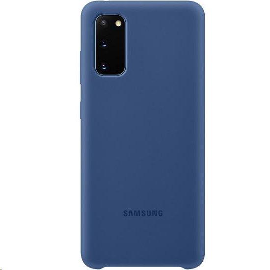 EF-PG980TNE Samsung Silikonový Kryt pro Galaxy S20 Navy