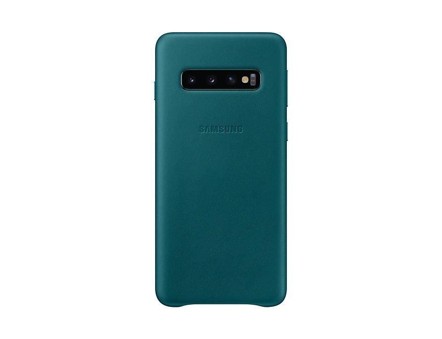 EF-VG973LGE Samsung Leather Cover Green pro G973 Galaxy S10 (Pošk. Balení)