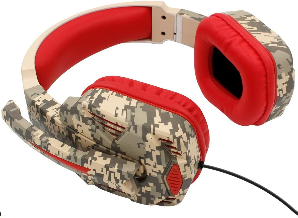 iPega PG-R005 Gaming Headset s Mikrofonem Red Camo 6949220410050