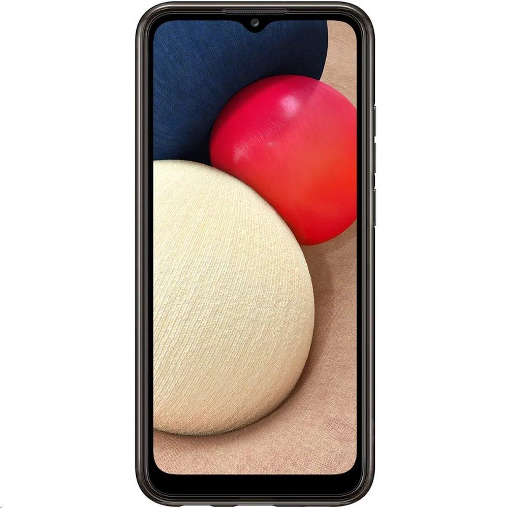 EF-QA026TBE Samsung Soft Clear Kryt pro Galaxy A02s Black 8806090830938