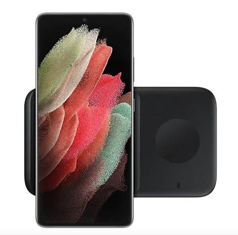 EP-P4300TBE Samsung Duo Pad Podložka pro Bezdrátové Nabíjení + Adaptér Black 8806090962905