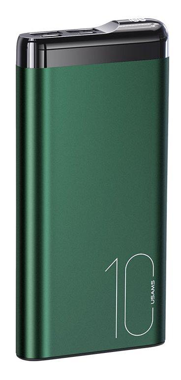 USAMS CD148 Hliníková Powerbanka s Displejem 10000mah Dark Green