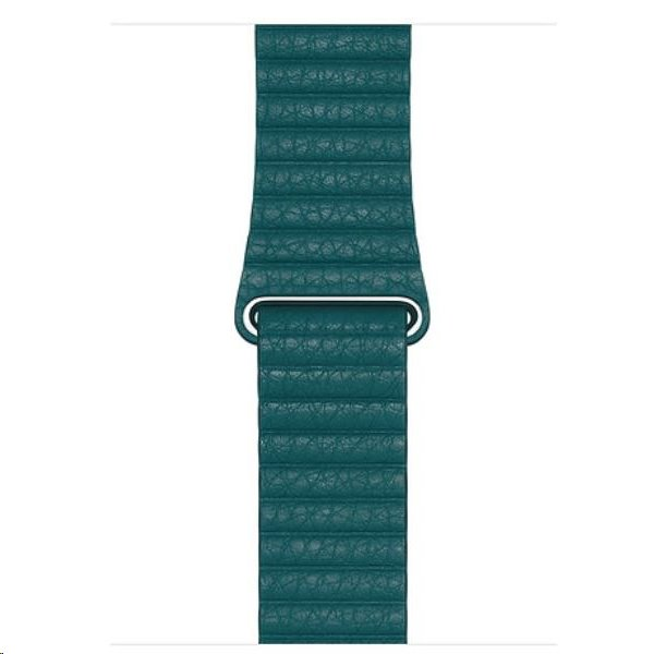 MXPM2ZM/A Apple Watch 44mm Peacock Leather Loop (Medium) 190199567641