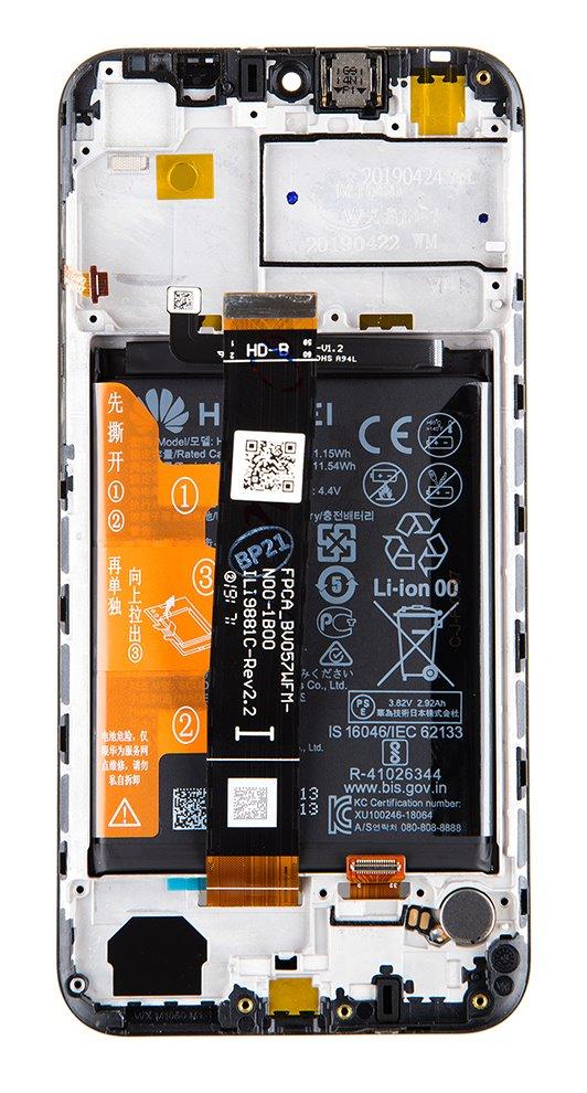 Honor 8S LCD Display + Dotyková Deska + Přední Kryt Black (Service Pack)