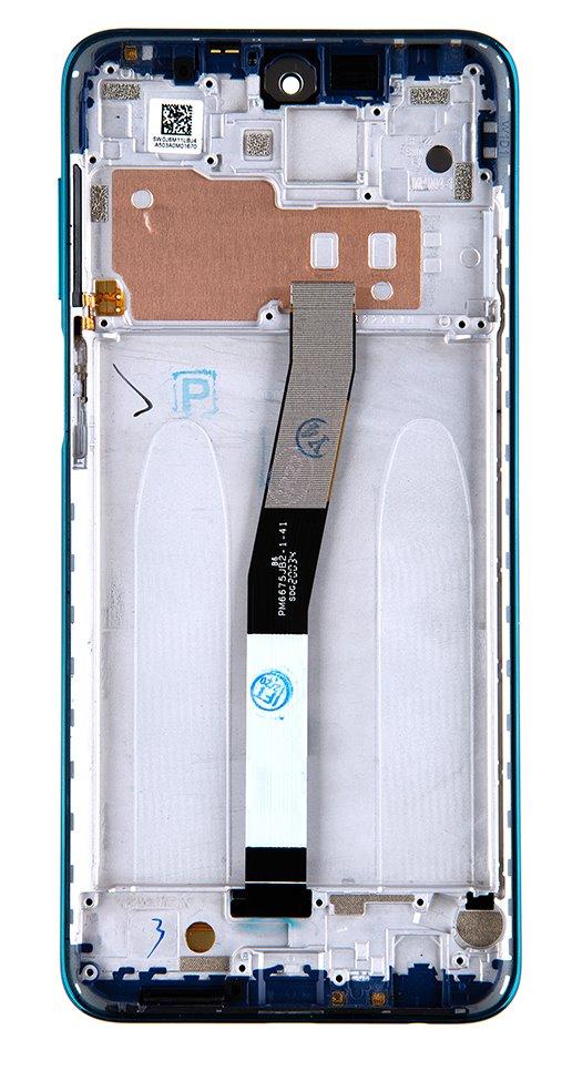 LCD Display + Dotyková Deska + Přední Kryt pro Xiaomi Redmi Note 9 Pro Max Aurora Blue