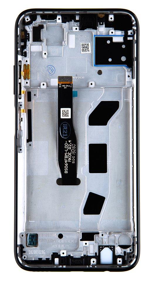 Huawei P40 Lite LCD Display + Dotyková Deska + Přední Kryt Midnight Black