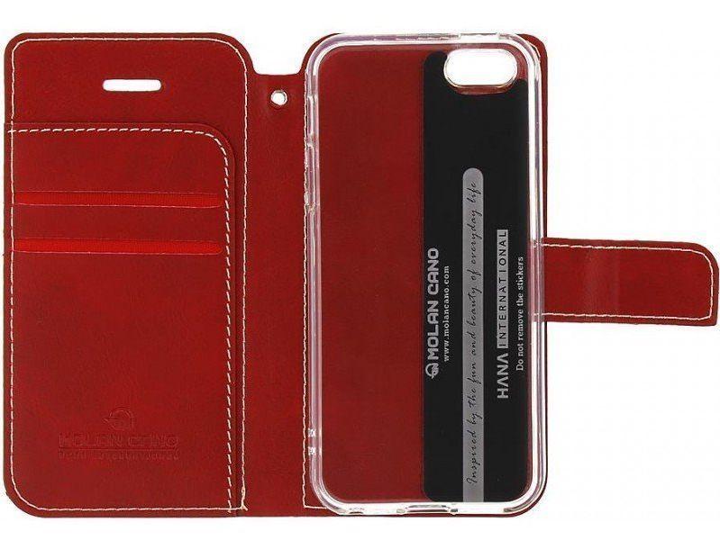 Molan Cano Issue Book Pouzdro pro Motorola E7 Red 8596311149573
