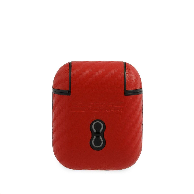 FESA2CARE Ferrari Carbon PC/PU Pouzdro pro Airpods 1/2 Red 3700740485354