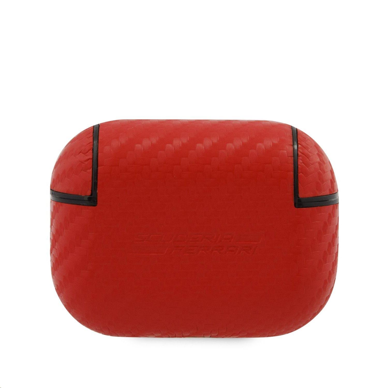 FESAPCARE Ferrari Carbon PC/PU Pouzdro pro Airpods Pro Red 3700740485361