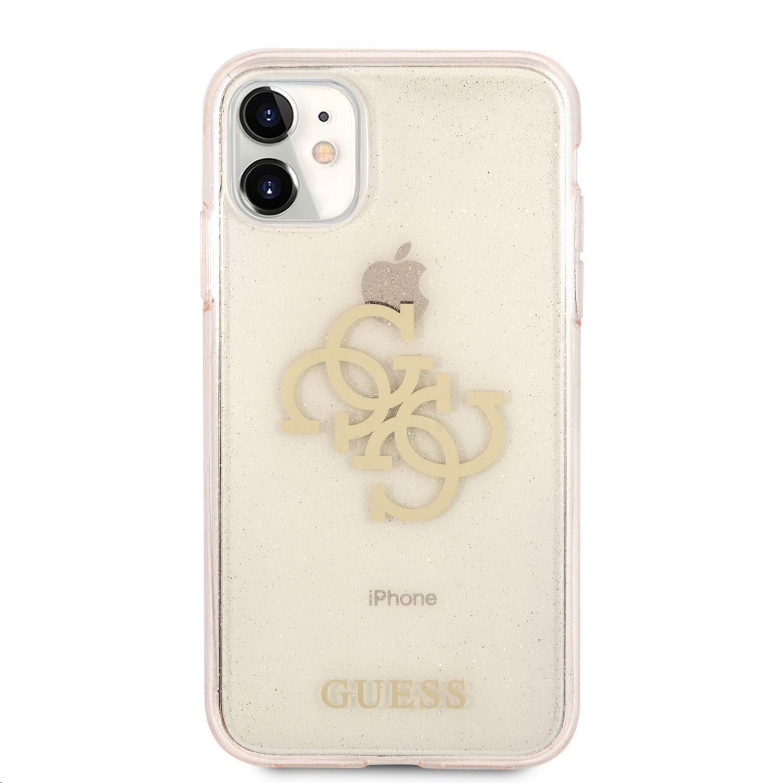 GUHCN61PCUGL4GGO Guess TPU Big 4G Full Glitter Zadní Kryt pro iPhone 11 Gold 3666339006396