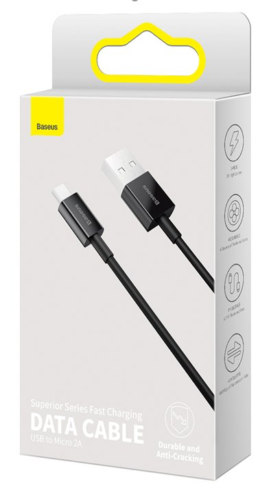 Baseus CAMYS-A01 Superior Fast Charging Datový Kabel MicroUSB 2A 2m Black 6953156208483