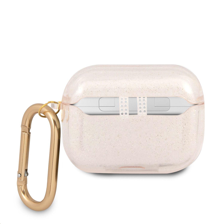 GUAPUCG4GD Guess 4G TPU Glitter Pouzdro pro Airpods Pro Gold 3666339009885