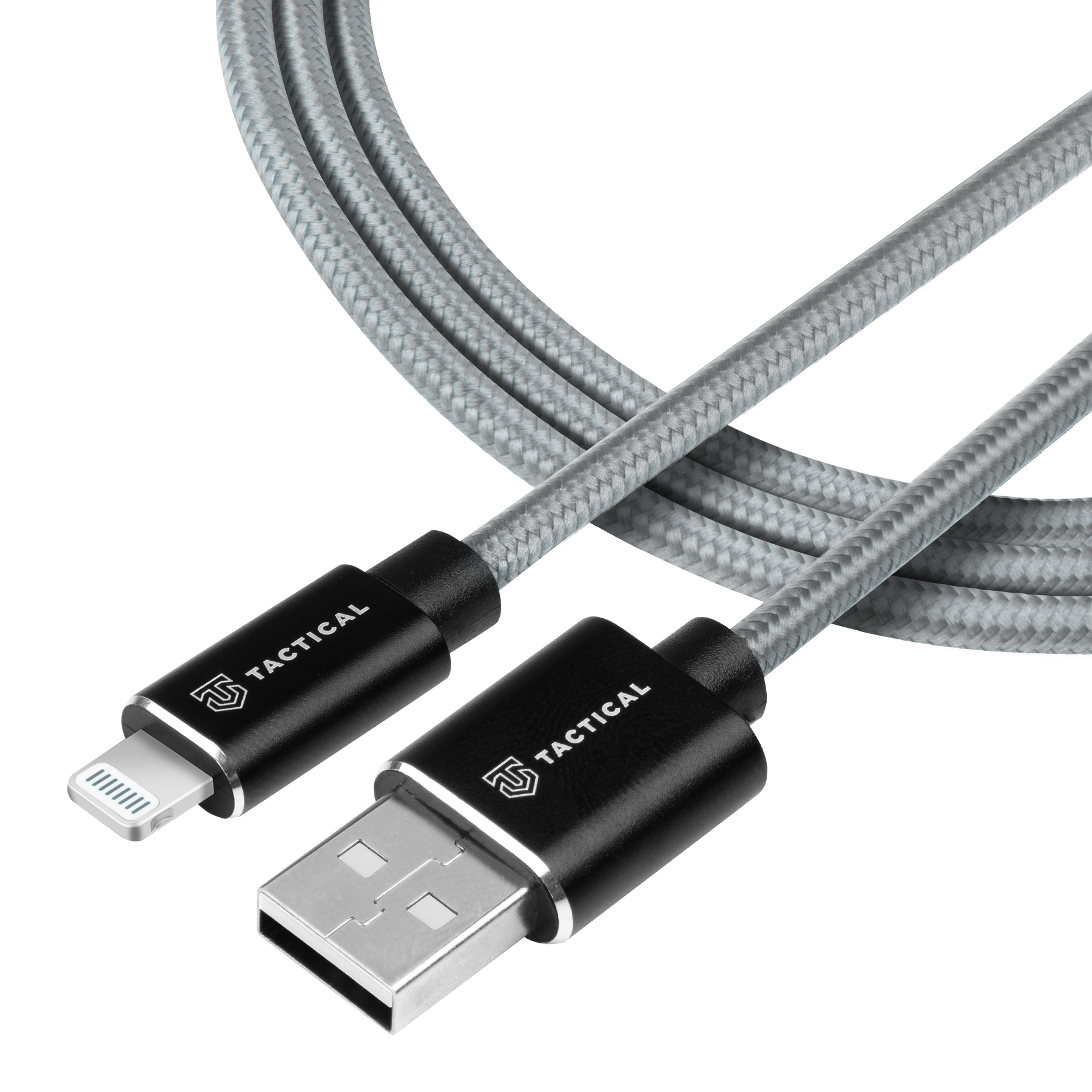 Tactical Fast Rope Aramid Cable USB-A/Lightning MFI 1m Grey 8596311153174