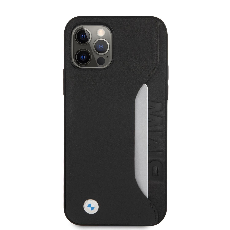 BMHCP12MRCSWK BMW Signature Leather Card Slot Kryt pro iPhone 12/12 Pro 6.1 Black 3666339011086