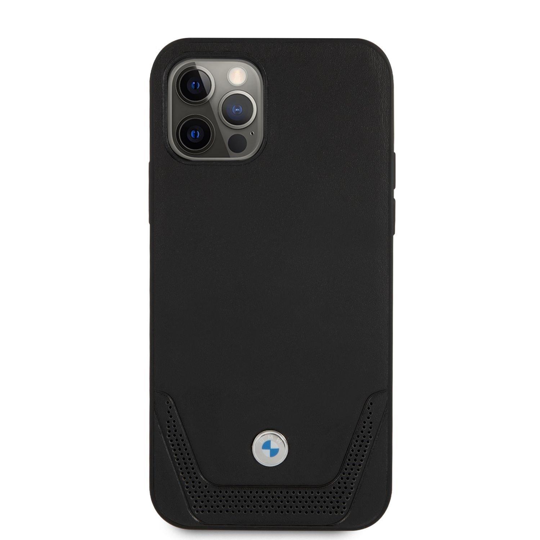 BMHCP12LRSWPK BMW Signature Leather Lower Stripe Kryt pro iPhone 12 Pro Max 6.7 Black 3666339010829