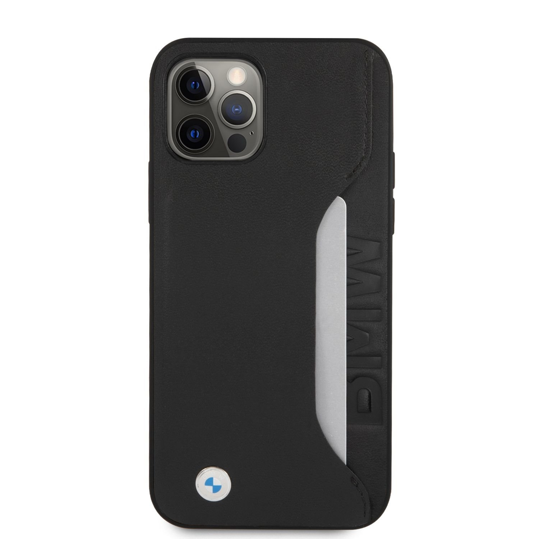 BMHCP12LRCSWK BMW Signature Leather Card Slot Kryt pro iPhone 12 Pro Max 6.7 Black 3666339011093