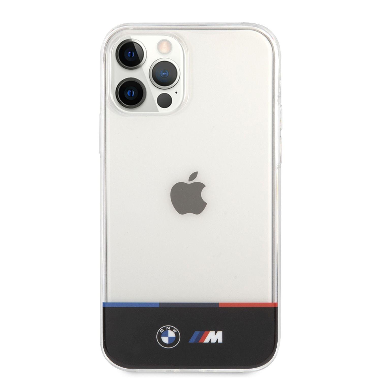 BMHCP12LMHTHK BMW M PC/TPU Horizontal Tricolor Zadní Kry pro iPhone 12 Pro Max 6.7 Transparent 3666339011451