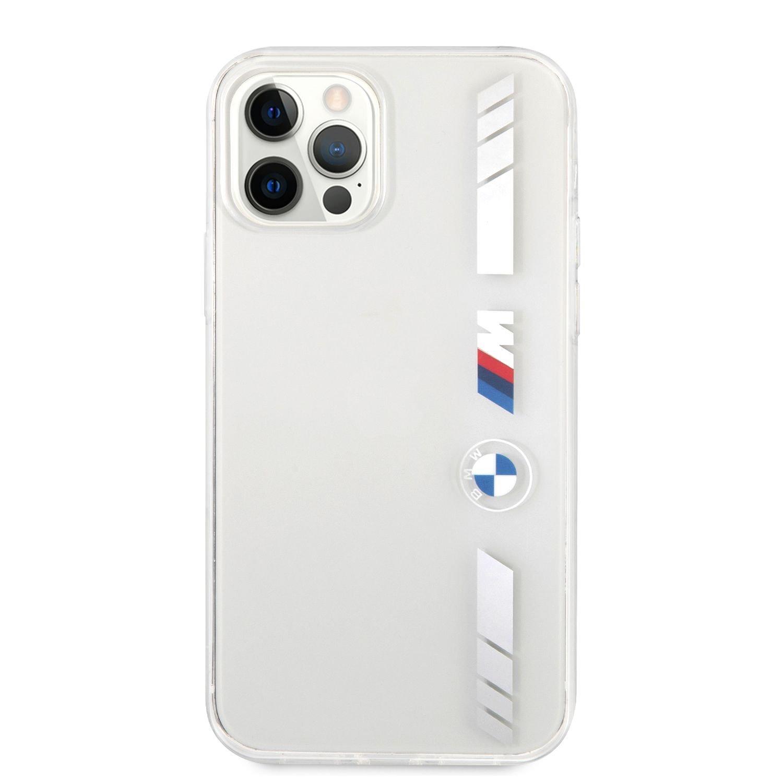 BMHCP12LMKTSS BMW M PC/TPU Silver Stripes Zadní Kryt pro iPhone 12 Pro Max 6.7 Transparent 3666339011574