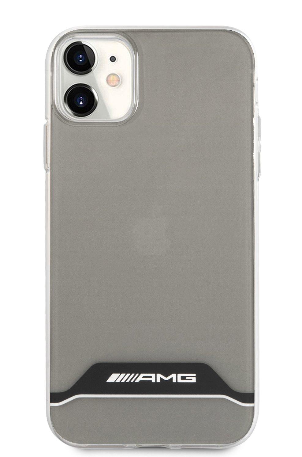 AMHCN61TCBW AMG PC/TPU Horizontal Stripes Kryt pro iPhone 11 Black 3666339014568