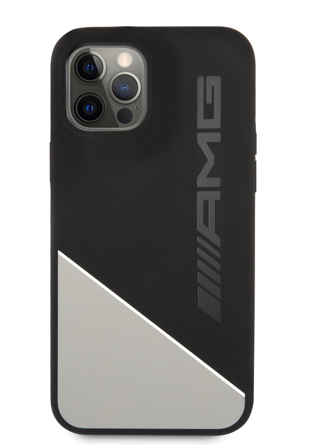 AMHCP12MWGDBK AMG Liquid Silicone Two Tones Kryt pro iPhone 12/12 Pro 6.1 Grey 3666339014056