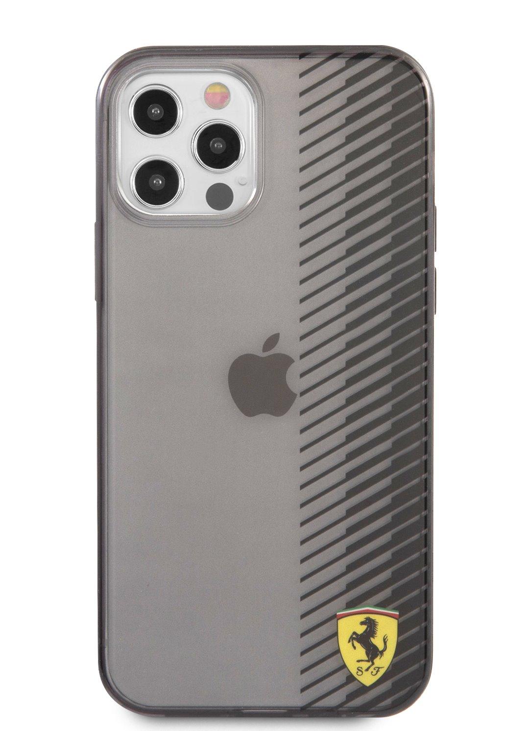 FEHCP12LUYEK Ferrari On Track Gradient Kryt pro iPhone 12 Pro Max 6.7 Black 3666339017040