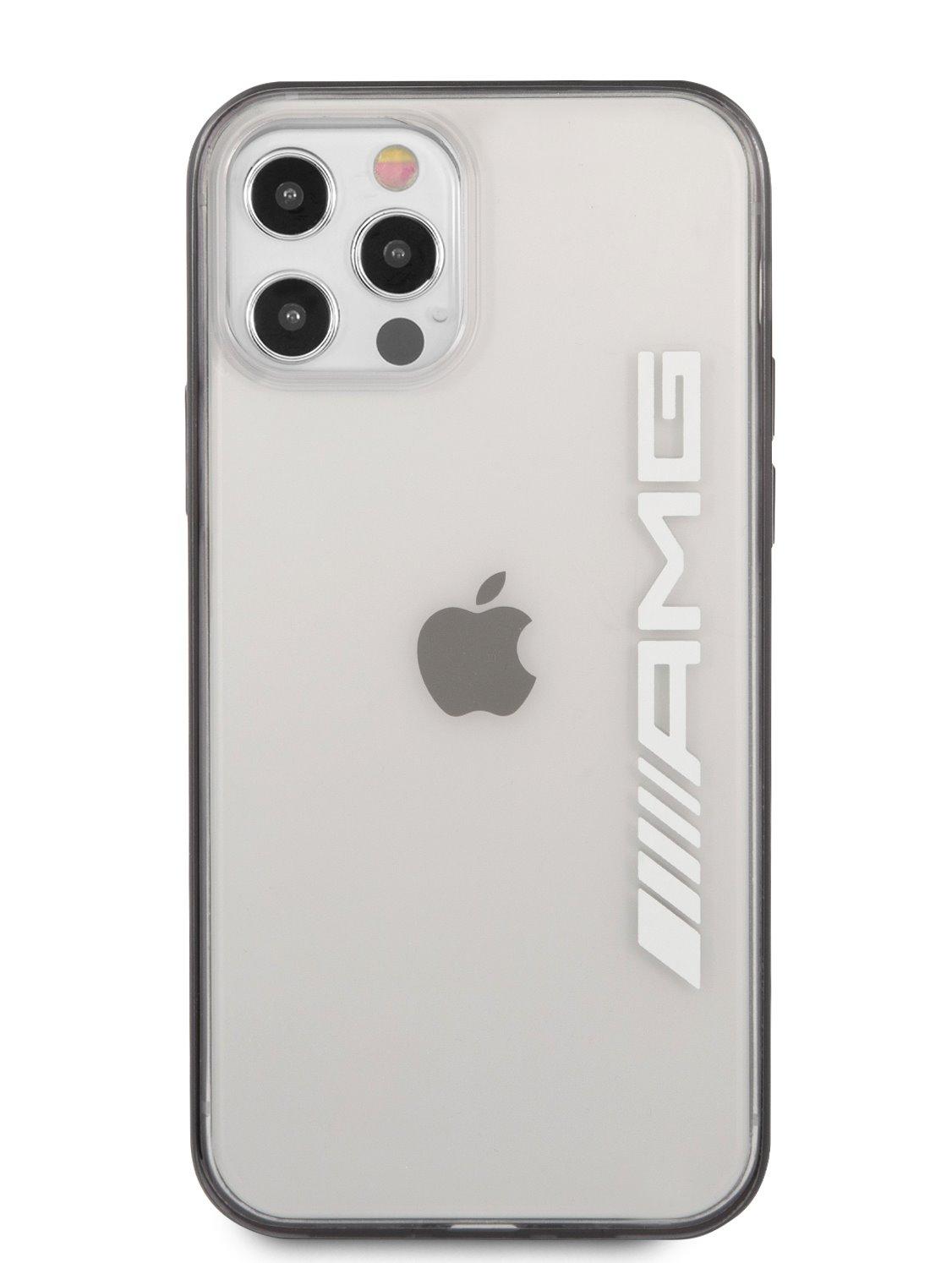 AMHCP12LAESLBK AMG Metallic Black Edges Kryt pro iPhone 12 Pro Max 6.7 Transparent 3666339014124