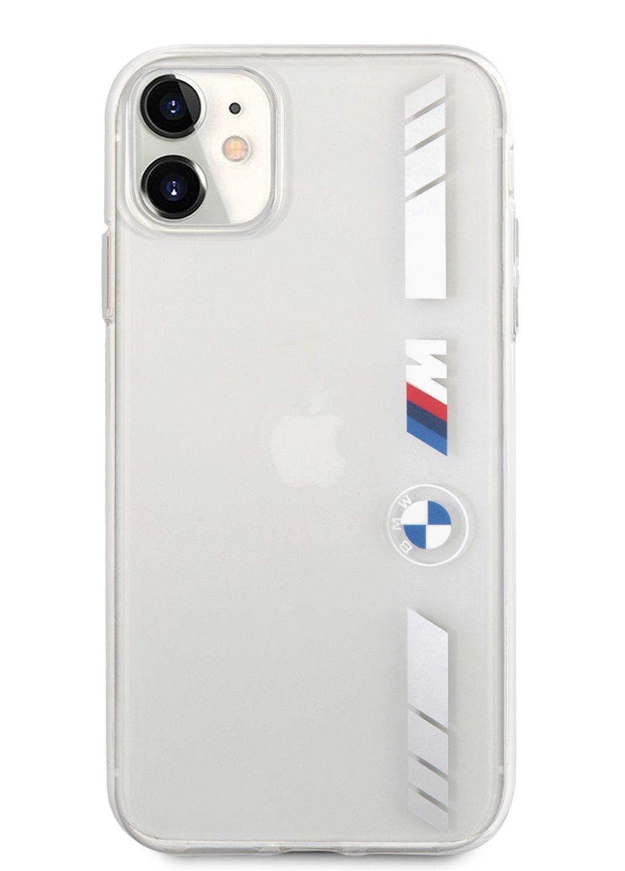 BMHCN61MKTSS BMW M PC/TPU Silver Stripes Zadní Kryt pro iPhone 11 Transparent 3666339012557