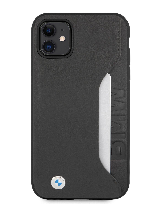 BMHCN61RCSWK BMW Signature Leather Card Slot Kryt pro iPhone 11 Black 3666339012076