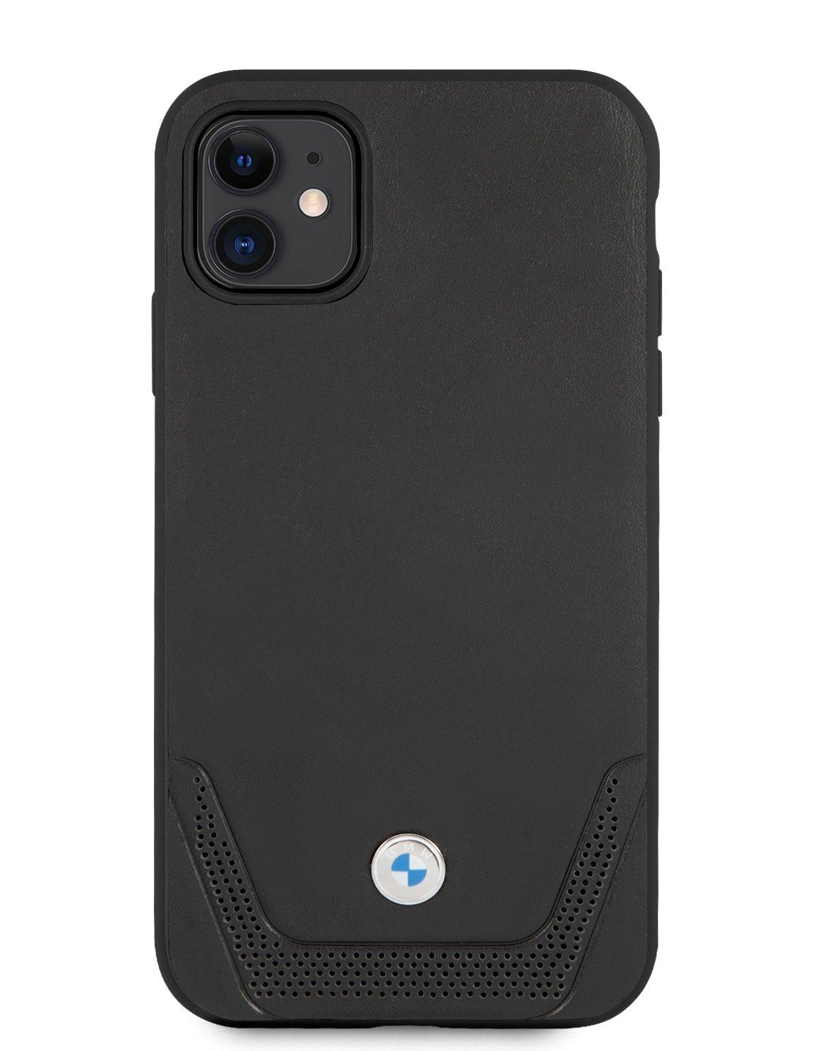 BMHCN61RSWPK BMW Signature Leather Lower Stripe Kryt pro iPhone 11 Black 3666339011802