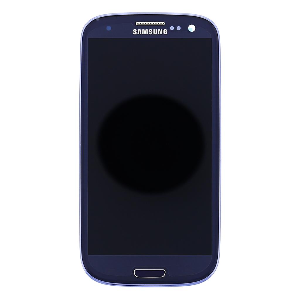LCD display + Dotyk + Přední kryt Samsung i9301 Galaxy S3 Neo Blue (Service Pack)