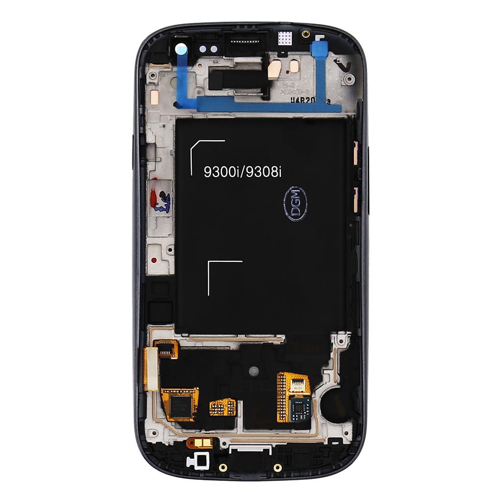 LCD display + Dotyk + Přední kryt Samsung i9301 Galaxy S3 Neo Black (Service Pack)