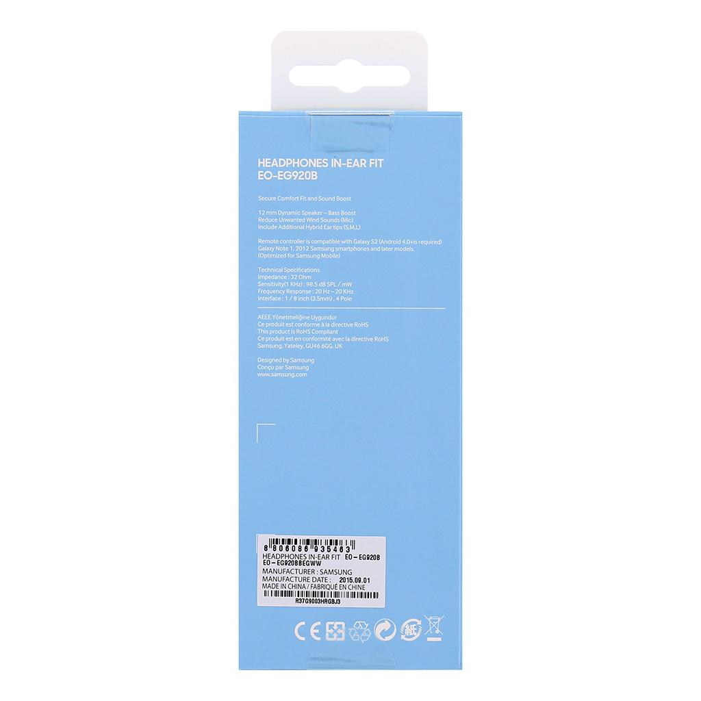 EO-EG920BBE Samsung Stereo HF 3,5mm vč. ovládání Black /  Artic Blue